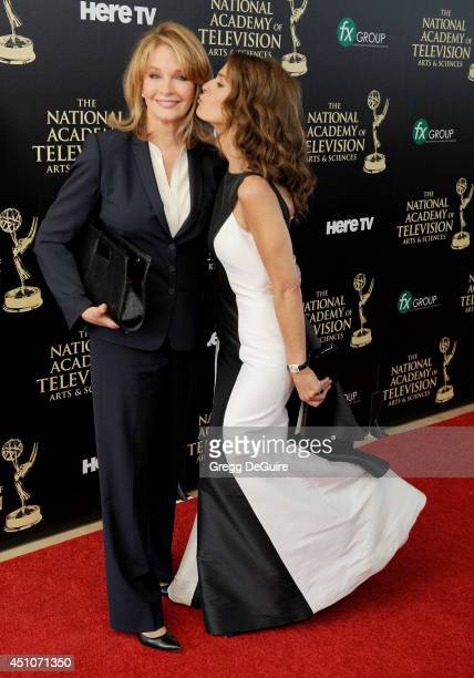 Actors Deidre Hall and Kristian Alfonso arrive at the 41st Annual Daytime Emmy Awards at The Beverly Hilton Hotel on June 22 2014 in Beverly Hills...