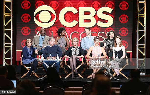 Actors Delroy Lindo Erica Tazel Justin Bartha and Sarah Steele executive producer Michelle King executive producer Robert King actors Christine...