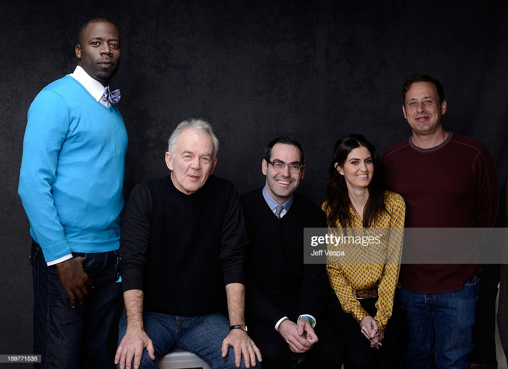 Actors Demetrius Grosse, Paul Eenhoorn, filmmaker Chad Hartigan, actors Sam Buchanan, and Richmond Arquette pose for a portrait during the 2013 Sundance Film Festival at the WireImage Portrait Studio at Village At The Lift on January 20, 2013 in Park City, Utah.