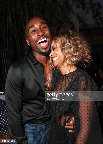 Actors Demetrius Shipp Jr and Kat Graham at the 'ALL EYEZ ON ME' Premiere at Westwood Village Theatre on June 14 2017 in Westwood California