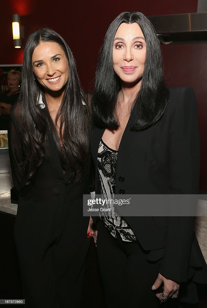 Actors Demi Moore and Cher attend Target Presents AFI's Night at the Movies at ArcLight Cinemas on April 24, 2013 in Hollywood, California.