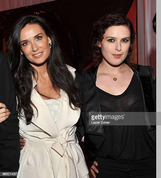 Actors Demi Moore and Rumer Willis attends the 'Valentine's Day' Los Angeles premiere after party on February 9 2010 in Hollywood California