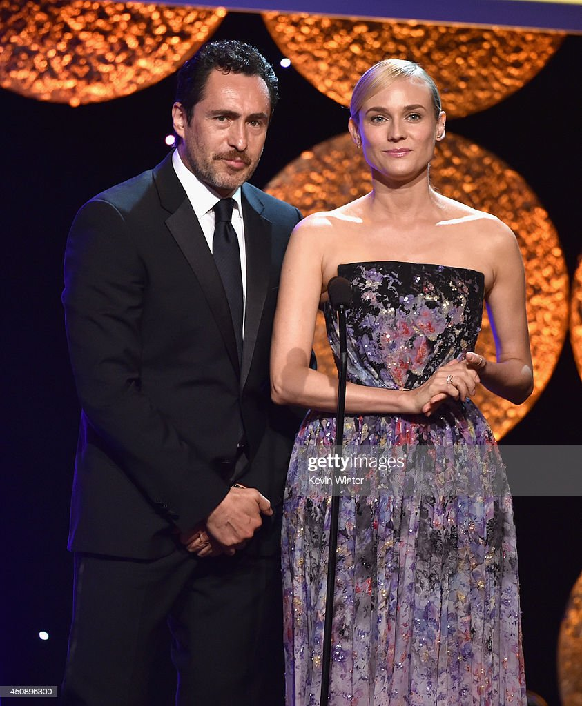 Actors Demian Bichir and Diane Kruger speak onstage during the 4th Annual Critics' Choice Television Awards at The Beverly Hilton Hotel on June 19, 2014 in Beverly Hills, California.