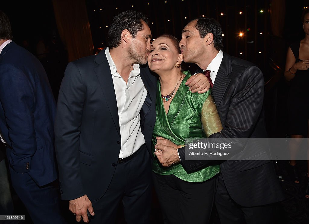 Actors <a gi-track='captionPersonalityLinkClicked' href=/galleries/search?phrase=Demian+Bichir&family=editorial&specificpeople=604427 ng-click='$event.stopPropagation()'>Demian Bichir</a>, Maricruz Bichir and Bruno Bichir attend the after party for the season premiere of FX's 'The Bridge' at the Pacific Design Center on July 7, 2014 in West Hollywood, California.