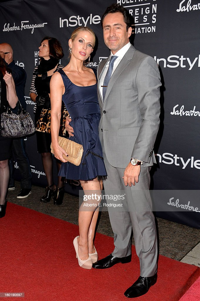 Actors Demián Bichir and Stefanie Sherk arrive at the TIFF HFPA / InStyle Party during the 2013 Toronto International Film Festival at Windsor Arms Hotel on September 9, 2013 in Toronto, Canada.