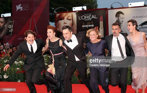 Actors Denis Fasolo Michela Cescon Filippo Timi director Cristina Comencini Thomas Trabacchi and Claudia Pandolfi attend the 'Quando La Notte'...