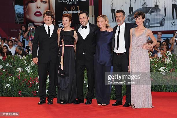Actors Denis Fasolo Michela Cescon Filippo Timi director Cristina Comencini and actors Thomas Trabacch and Claudia Pandolfi attend the 'Quando la...
