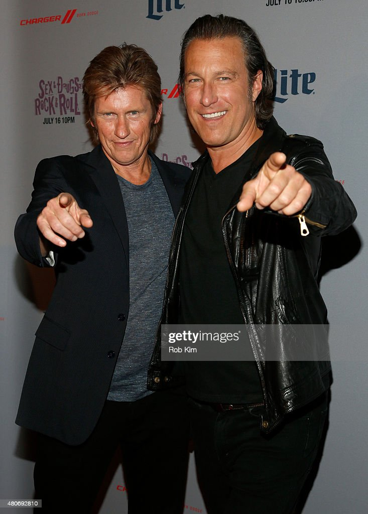 Actors Denis Leary and John Corbett attend the New York Series Premiere of 'SexDrugsRockRoll' at the SVA Theater on July 14 2015 in New York City