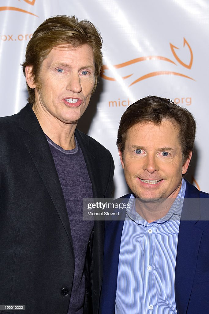 Actors <a gi-track='captionPersonalityLinkClicked' href=/galleries/search?phrase=Denis+Leary&family=editorial&specificpeople=204773 ng-click='$event.stopPropagation()'>Denis Leary</a> (L) and <a gi-track='captionPersonalityLinkClicked' href=/galleries/search?phrase=Michael+J.+Fox&family=editorial&specificpeople=208846 ng-click='$event.stopPropagation()'>Michael J. Fox</a> attend the 2012 A Funny Thing Happened On The Way To Cure Parkinson's at The Waldorf=Astoria on November 10, 2012 in New York City.