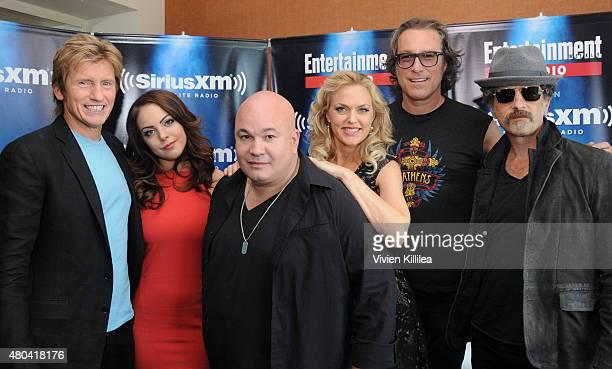 Actors Denis Leary Elizabeth Gillies Robert Kelly Elaine Hendrix John Ales and John Corbett attend SiriusXM's Entertainment Weekly Radio Channel...