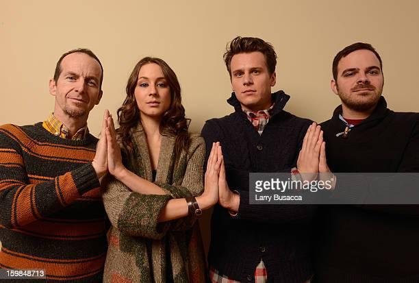Actors Denis O'Hare Troian Bellisario and Jonathan Groff and filmmaker Kyle Patrick Alvarez pose for a portrait during the 2013 Sundance Film...