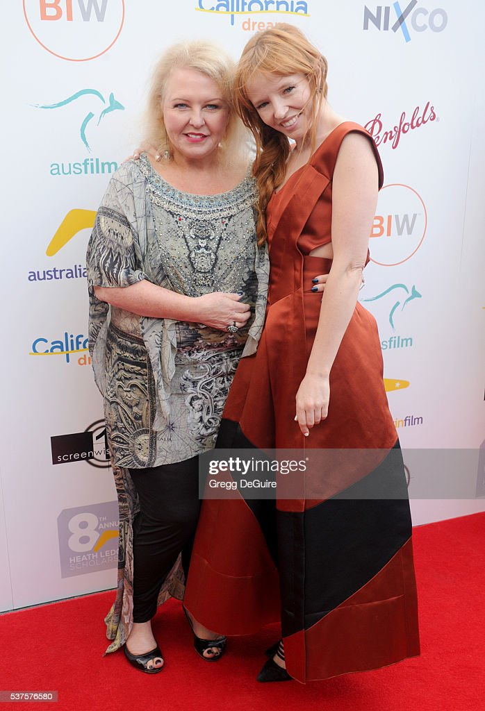 Actors Denise Roberts and Stef Dawson arrive at Australians In Film Heath Ledger Scholarship Dinner on June 1 2016 in Beverly Hills California
