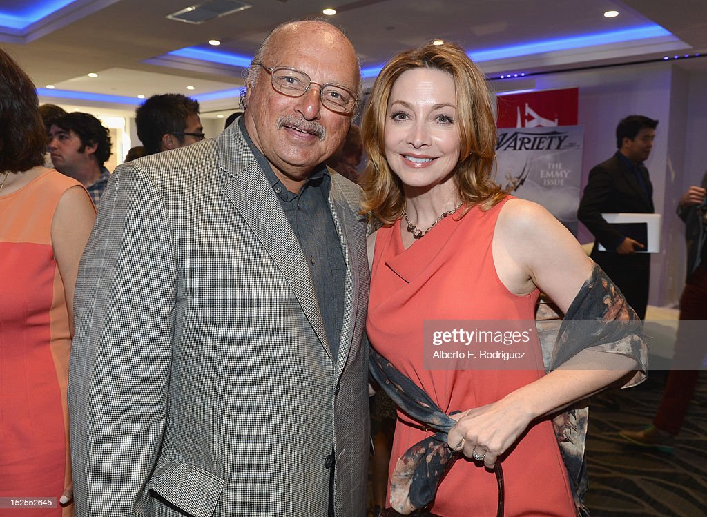 Actors <a gi-track='captionPersonalityLinkClicked' href=/galleries/search?phrase=Dennis+Franz&family=editorial&specificpeople=214579 ng-click='$event.stopPropagation()'>Dennis Franz</a> and <a gi-track='captionPersonalityLinkClicked' href=/galleries/search?phrase=Sharon+Lawrence&family=editorial&specificpeople=202246 ng-click='$event.stopPropagation()'>Sharon Lawrence</a> attend Variety's Primetime Emmy Elite Showrunners Breakfast sponsored by HP and Udi's Gluten Free at InterContinental Hotel on September 21, 2012 in Century City, California.