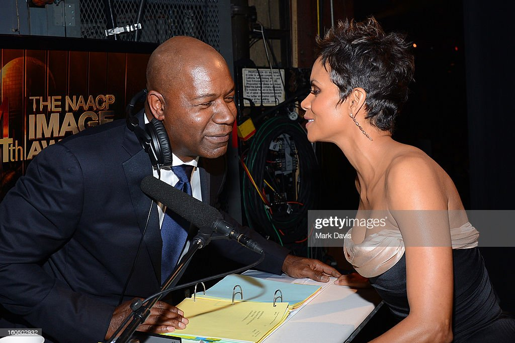 Actors Dennis Haysbert and Halle Berry attend the 44th NAACP Image Awards at The Shrine Auditorium on February 1, 2013 in Los Angeles, California.