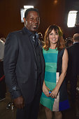 Actors Dennis Haysbert and Rosemarie DeWitt attend the premiere of Paramount Pictures' 'Men Women Children' at Directors Guild of America on...