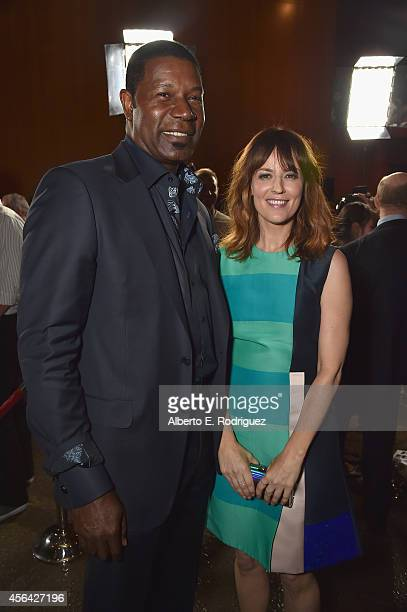 Actors Dennis Haysbert and Rosemarie DeWitt attend the premiere of Paramount Pictures' 'Men Women Children' at Directors Guild of America on...