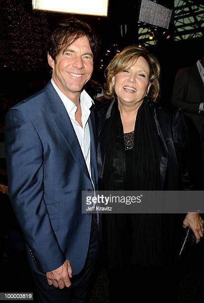 Actors Dennis Quaid and Brenda Vaccaro arrive to the HBO premiere of 'The Special Relationship' held at Directors Guild Of America on May 19 2010 in...