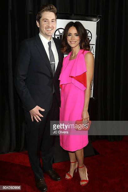 Actors Derek Johnson and Abigail Spencer attend The 40th Annual Los Angeles Film Critics Association Awards at InterContinental Hotel on January 9...
