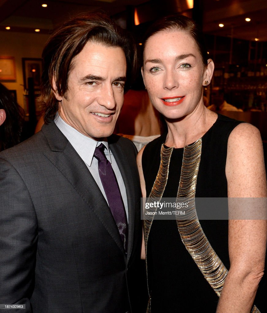 Actors <a gi-track='captionPersonalityLinkClicked' href=/galleries/search?phrase=Dermot+Mulroney&family=editorial&specificpeople=208776 ng-click='$event.stopPropagation()'>Dermot Mulroney</a> (L) and <a gi-track='captionPersonalityLinkClicked' href=/galleries/search?phrase=Julianne+Nicholson&family=editorial&specificpeople=757237 ng-click='$event.stopPropagation()'>Julianne Nicholson</a> attend The Weinstein Company Presents 'August: Osage County' Gala Screening Cocktail Reception during AFI FEST 2013 presented by Audi at TCL Chinese Theatre on November 8, 2013 in Hollywood, California.