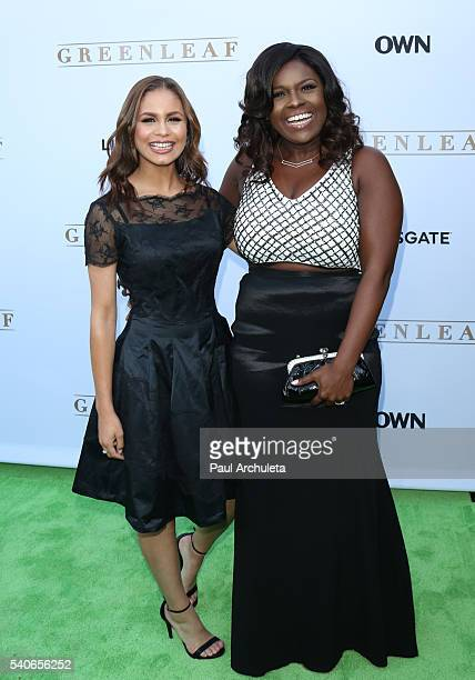 Actors Desiree Ross and Deborah Joy Winans attend the premiere of OWN's 'Greenleaf' at The Lot on June 15 2016 in West Hollywood California