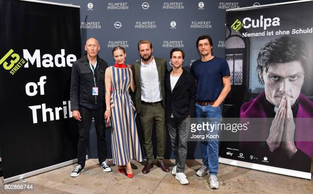 Actors Detlef Bothe Alina Levshin director Jano Ben Chaabane Ludwig Trepte and Stipe Erceg attend the 'Culpa Niemand ist ohne Schuld' screening at...
