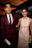 Actors Dev Patel and Freida Pinto wearing Ferragamo attend the Wallis Annenberg Center for the Performing Arts Inaugural Gala presented by Salvatore...