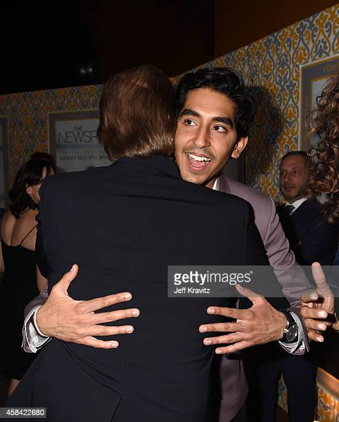 Actors Dev Patel and Jeff Daniels attend the premiere of HBO's 'The Newsroom' Season 3 at the DGA Theater on November 4 2014 in Los Angeles California