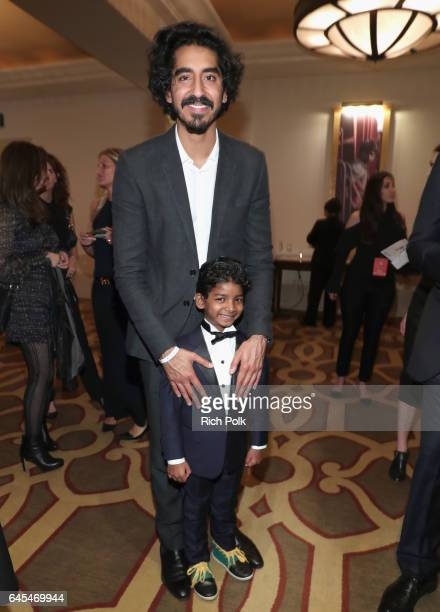 Actors Dev Patel and Sunny Pawar attend The Weinstein Company's PreOscar Dinner in partnership with Bvlgari and Grey Goose at Montage Beverly Hills...