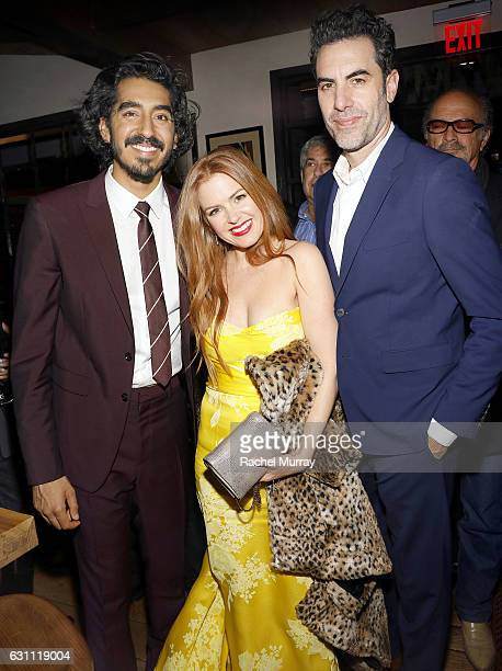 Actors Dev Patel Isla Fisher and Sacha Baron Cohen attend a special screening and reception of 'LION' hosted by David O'Russell and Lee Daniels...