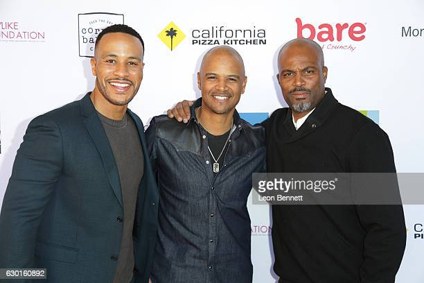 Actors Devon Franklin Dondre Whitfield and Chris Spencer arrives at the 5th Annual Ladylike Day at UCLA on December 17 2016 in Los Angeles California
