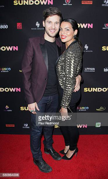 Actors Devon Werkheiser and Sara Montez arrive at the Premiere of Pantelion Films' 'Sundown' at ArcLight Hollywood on May 11 2016 in Hollywood...