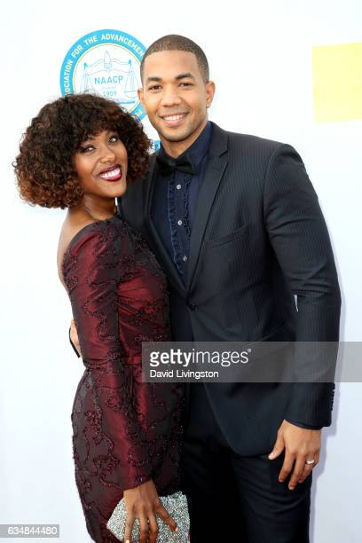 Actors Dewanda Wise and Alano Miller attend the 48th NAACP Image Awards at Pasadena Civic Auditorium on February 11 2017 in Pasadena California