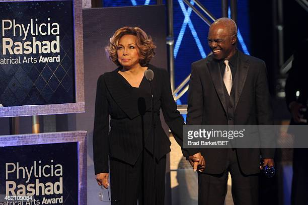Actors Diahann Carroll and Glynn Turman speak onstage during 'The BET Honors' 2015 at Warner Theatre on January 24 2015 in Washington DC