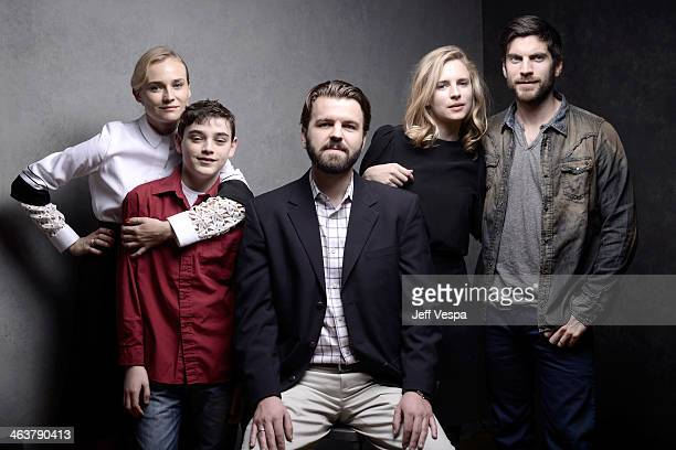 Actors Diane Kruger and Braydon Denney director AJ Edwards and actors Brit Marling and Wes Bentley pose for a portrait during the 2014 Sundance Film...
