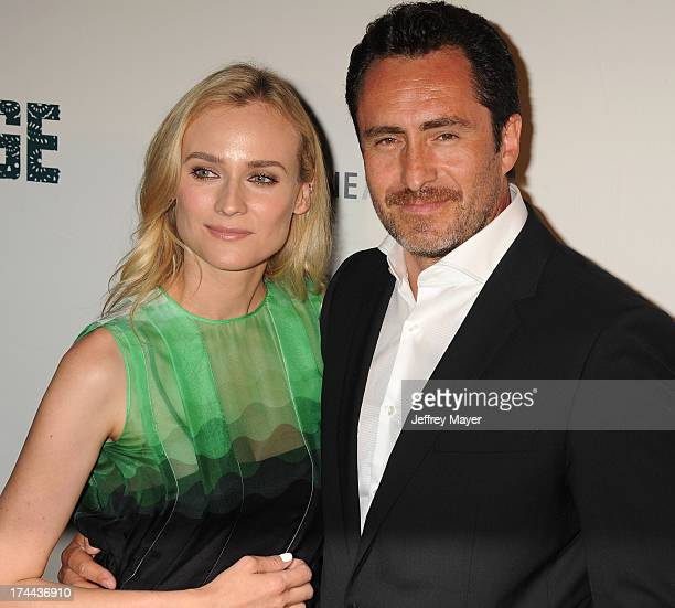 Actors Diane Kruger and Demian Bichir arrive at the Series Premiere Of FX's 'The Bridge' at DGA Theater on July 8 2013 in Los Angeles California
