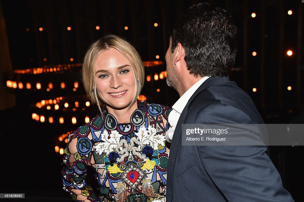 Actors <a gi-track='captionPersonalityLinkClicked' href=/galleries/search?phrase=Diane+Kruger&family=editorial&specificpeople=202640 ng-click='$event.stopPropagation()'>Diane Kruger</a> and <a gi-track='captionPersonalityLinkClicked' href=/galleries/search?phrase=Demian+Bichir&family=editorial&specificpeople=604427 ng-click='$event.stopPropagation()'>Demian Bichir</a> attend the after party for the season premiere of FX's 'The Bridge' at the Pacific Design Center on July 7, 2014 in West Hollywood, California.