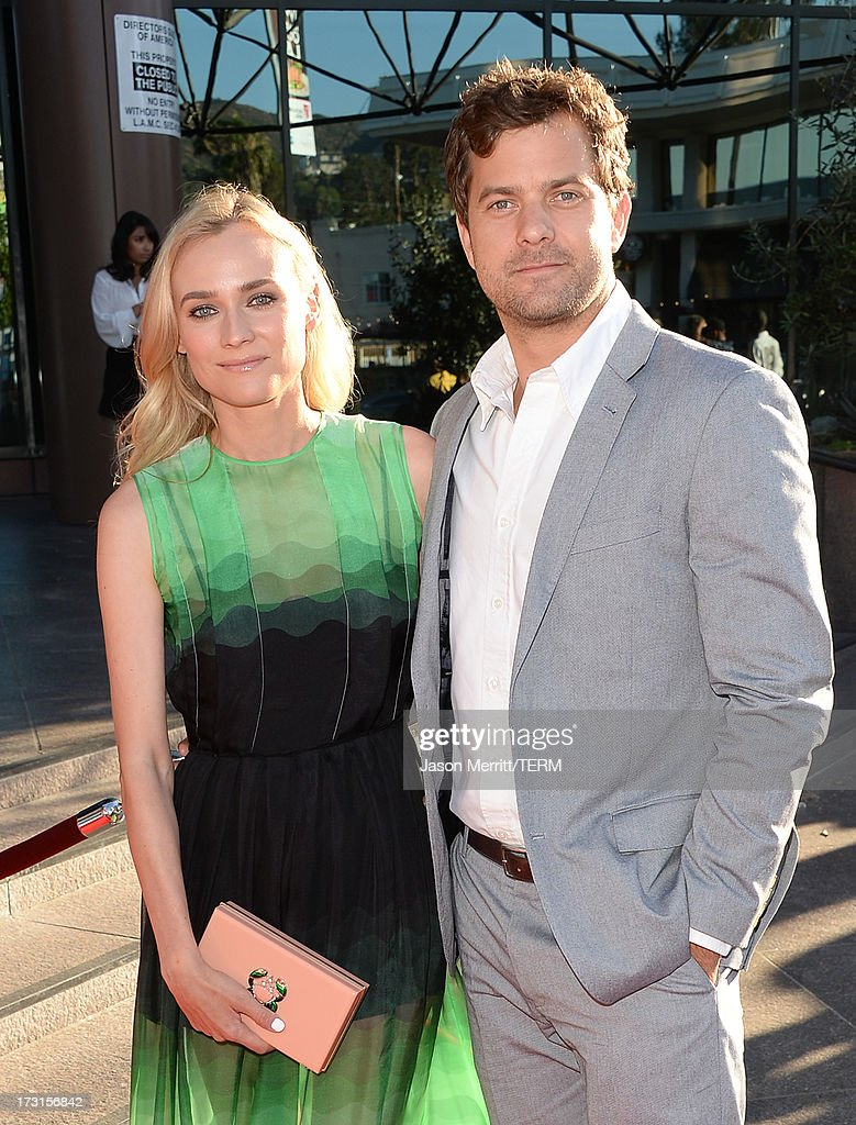 Actors Diane Kruger and Joshua Jackson arrive at the series premiere of FX's 'The Bridge' at the DGA Theater on July 8, 2013 in Los Angeles, California.
