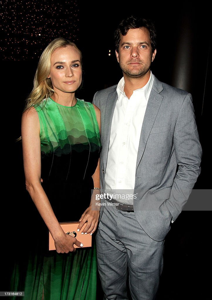 Actors <a gi-track='captionPersonalityLinkClicked' href=/galleries/search?phrase=Diane+Kruger&family=editorial&specificpeople=202640 ng-click='$event.stopPropagation()'>Diane Kruger</a> (L) and <a gi-track='captionPersonalityLinkClicked' href=/galleries/search?phrase=Joshua+Jackson+-+Actor&family=editorial&specificpeople=208160 ng-click='$event.stopPropagation()'>Joshua Jackson</a> arrive at the series premiere of FX's 'The Bridge' at the Directors Guild of America on July 8, 2013 in Los Angeles, California.