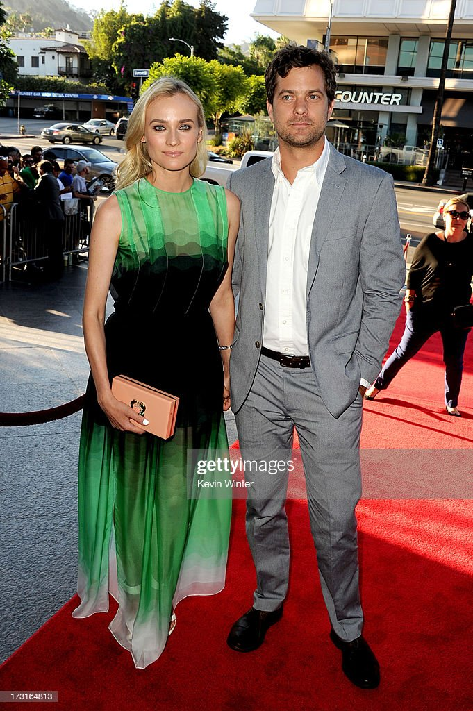 Actors Diane Kruger and Joshua Jackson arrive at the series premiere of FX's 'The Bridge' at the Directors Guild of America on July 8 2013 in Los...