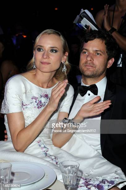 Actors Diane Kruger and Joshua Jackson attend the 2012 amfAR's Cinema Against AIDS during the 65th Annual Cannes Film Festival at Hotel Du Cap on May...