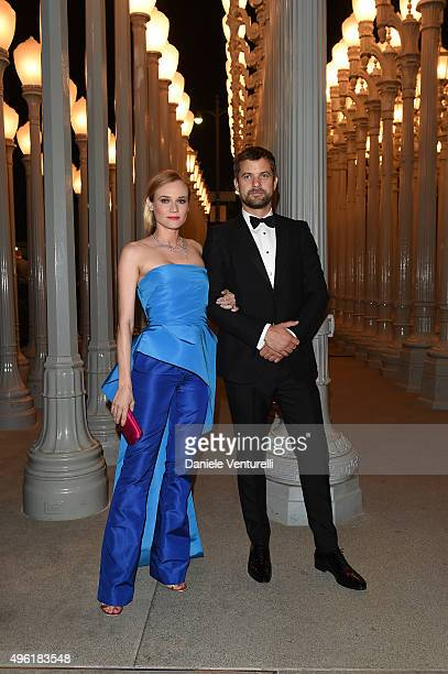 Actors Diane Kruger and Joshua Jackson wearing Gucci attend LACMA 2015 ArtFilm Gala Honoring James Turrell and Alejandro G Iñárritu Presented by...