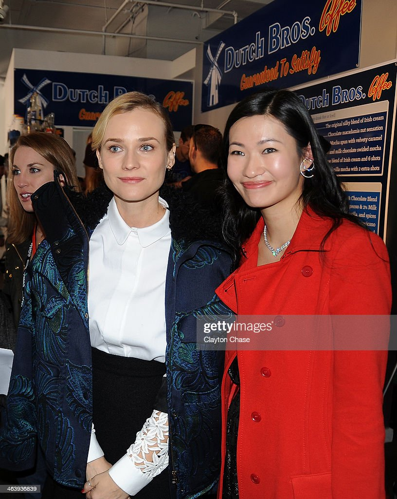 Actors <a gi-track='captionPersonalityLinkClicked' href=/galleries/search?phrase=Diane+Kruger&family=editorial&specificpeople=202640 ng-click='$event.stopPropagation()'>Diane Kruger</a> and Kimmy Lai attend The 10th Anniversary LG Music Lodge At Sundance With Elio Motors And Tervis on January 19, 2014 in Park City, Utah.