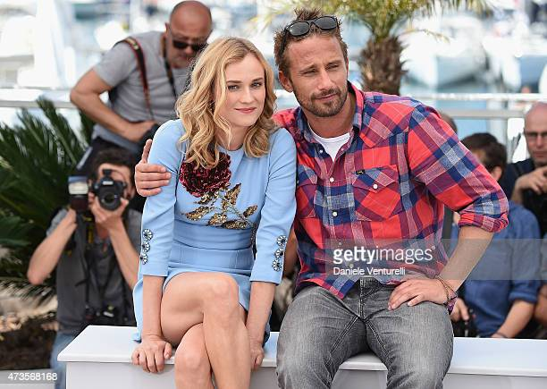 Actors Diane Kruger and Matthias Schoenaerts attend the 'Disorder' photocall during the 68th annual Cannes Film Festival on May 16 2015 in Cannes...