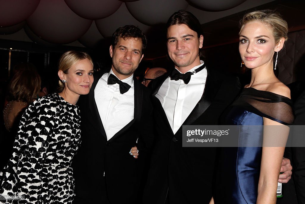 Actors Diane Kruger, Joshua Jackson, Josh Hartnett and Tamsin Egerton attend the 2013 Vanity Fair Oscar Party hosted by Graydon Carter at Sunset Tower on February 24, 2013 in West Hollywood, California.