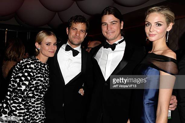 Actors Diane Kruger Joshua Jackson Josh Hartnett and Tamsin Egerton attend the 2013 Vanity Fair Oscar Party hosted by Graydon Carter at Sunset Tower...