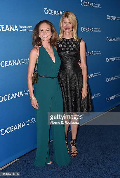 Actors Diane Lane and Laura Dern attend the 'Concert For Our Oceans' hosted by Seth MacFarlane benefitting Oceana at The Wallis Annenberg Center for...