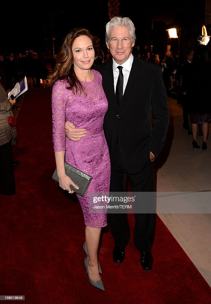 Actors Diane Lane and Richard Gere arrive at the 24th annual Palm Springs International Film Festival Awards Gala at the Palm Springs Convention Center on January 5, 2013 in Palm Springs, California.