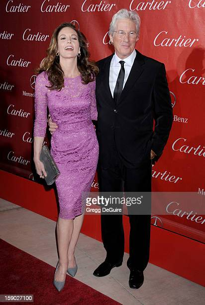 Actors Diane Lane and Richard Gere arrive at the 24th Annual Palm Springs International Film Festival Awards Gala at Palm Springs Convention Center...