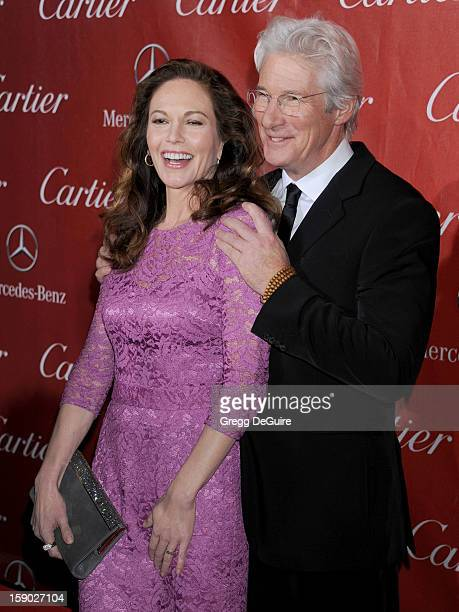 Actors Diane Lane and Richard Gere arrives at the 24th Annual Palm Springs International Film Festival Awards Gala at Palm Springs Convention Center...