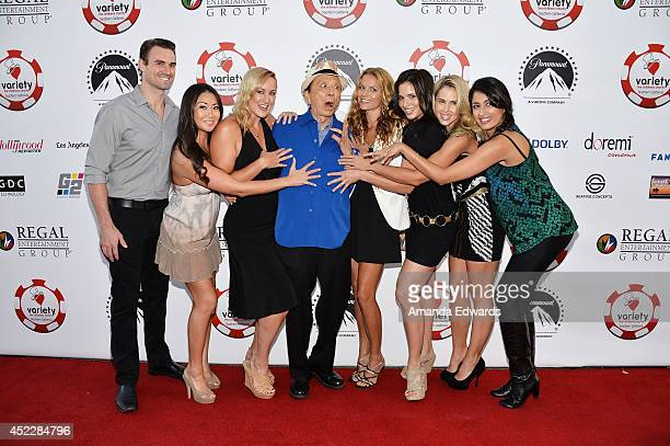 Actors Diane Yang Vanessa Cater James Hong Ellen Hollman Katrina Law Anna Hutchison and Karishma Ahluwalia arrive at the 4th Annual Variety The...